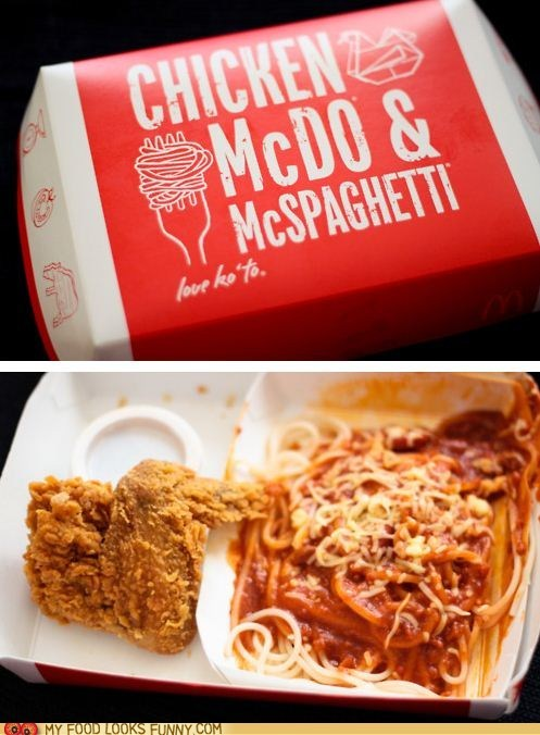 chicken,fast food,McDonald's,philippines,spaghetti