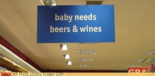 aisle baby beer sign store wine - 6403262464
