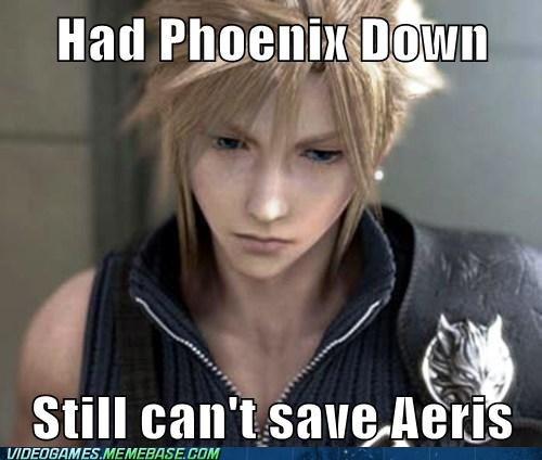 cloud final fantasy meme phoenix down sad cloud - 6403326720