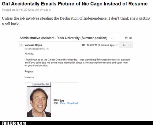 job nicholas cage resume - 6403343360