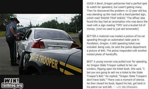 Speeding Ticket Stories WIN!