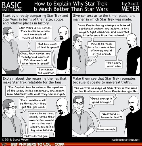 argument,comic,comparing,lesson,Star Trek,star-trek-vs-star-wars