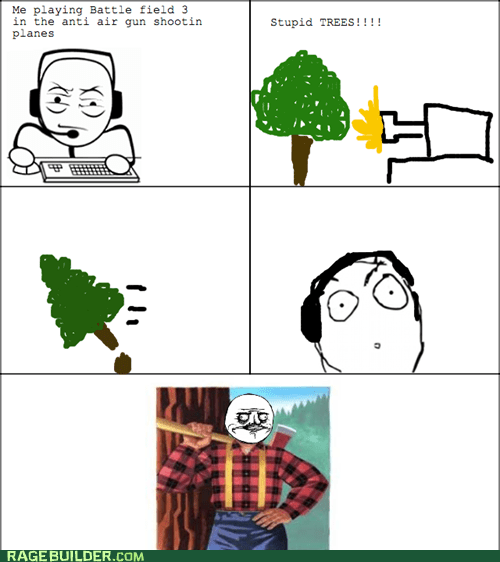 Battlefield 3,lumberjack,Rage Comics,video games