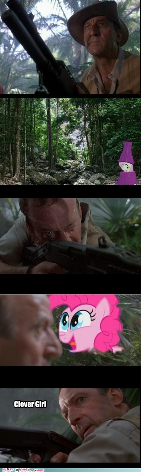 clever girl,comic,comics,jurassic park,pinkie pie