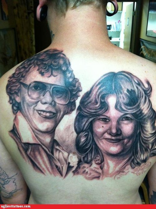 back tattoos,portrait tattoos