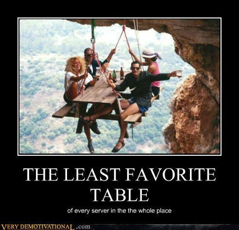 cliff,hanging,hilarious,server,table