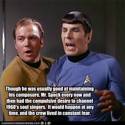 Captain Kirk Composure fear Leonard Nimoy Shatnerday singing soul Spock Star Trek William Shatner - 6404434176