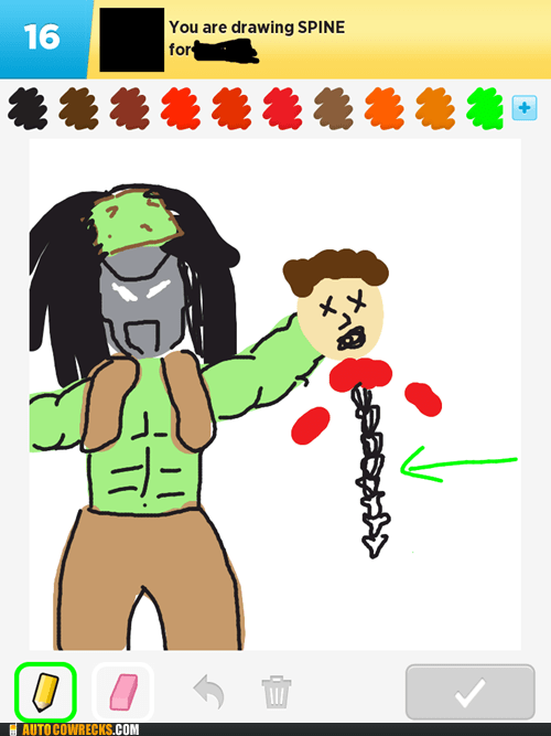 draw something hulk Predator spine - 6404448512