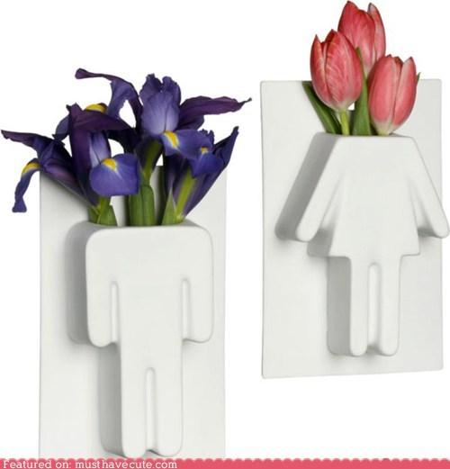 ceramic decor flowers man vase woman - 6404583680