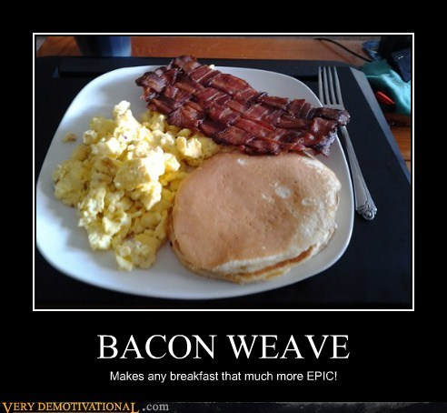 bacon weave eggs pancakes Pure Awesome