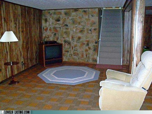 awful basement decor recliner - 6405147392