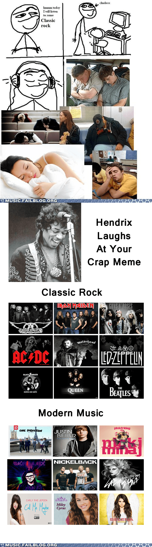 classic rock,comic,hendrix,jimi hendrix,rage comic,today i will listen to so