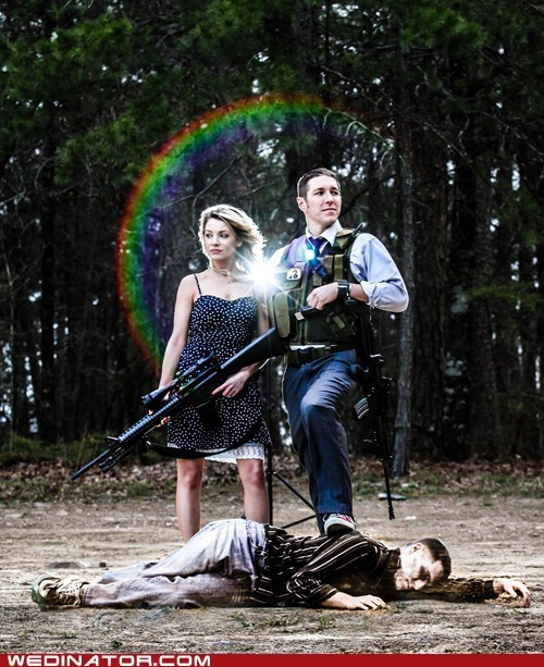 guns zombie photoshoot engagement - 6405727488