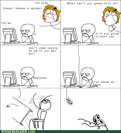 omg run,Rage Comics,relationships,spiders