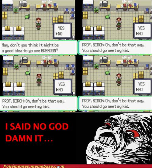 gameplay,i said no,professor birch