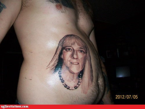 portrait tattoos,tummy tat