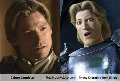 Jaime Lannister Totally Looks Like Prince Charming from Shrek