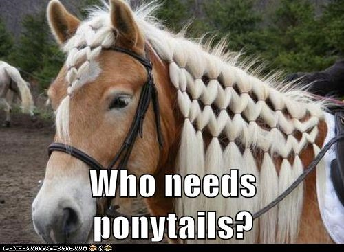 Who needs ponytails?