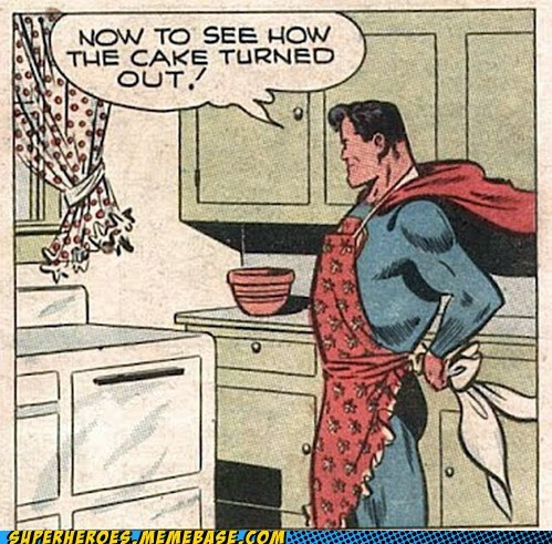cake,domestic,Straight off the,Straight off the Page,superman