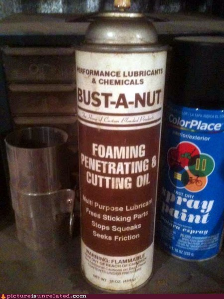 bust a nut,chemical,spray,sticking,wtf