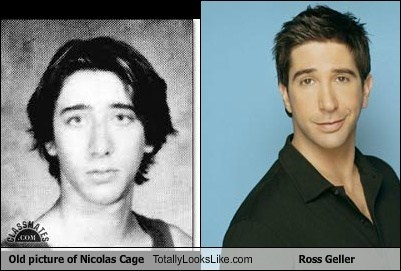 Old picture of Nicolas Cage Totally Looks Like Ross Geller