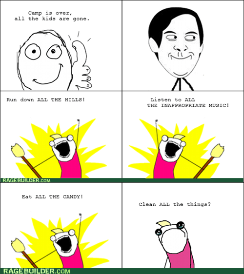 all the things,camp,Rage Comics,summer