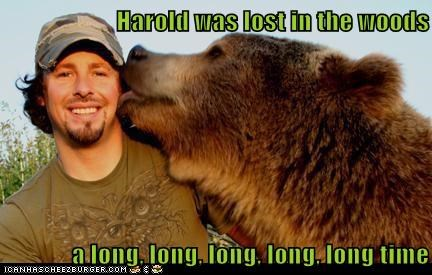 bear changed kissing licking long time lost love woods