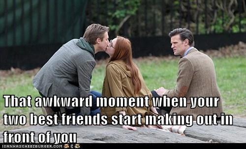 amy pond arthur darvil friends karen gillan kissing Matt Smith rory williams that awkward moment the doctor - 6409714944