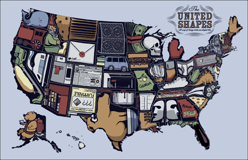 america map shapes united states