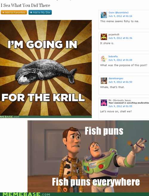 everywhere,fish,krill,puns