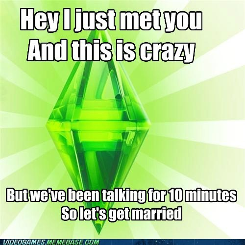 call me maybe meme The Sims woohoo