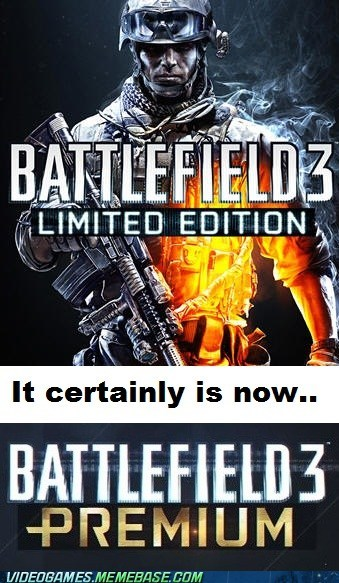 Battlefield 3 FPS subscription the feels