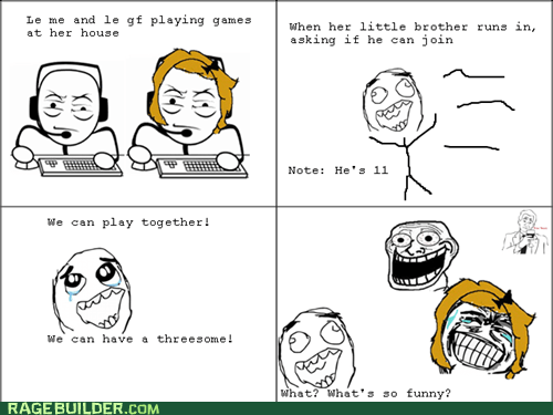 Rage Comics,that sounds naughty,threeway,video games