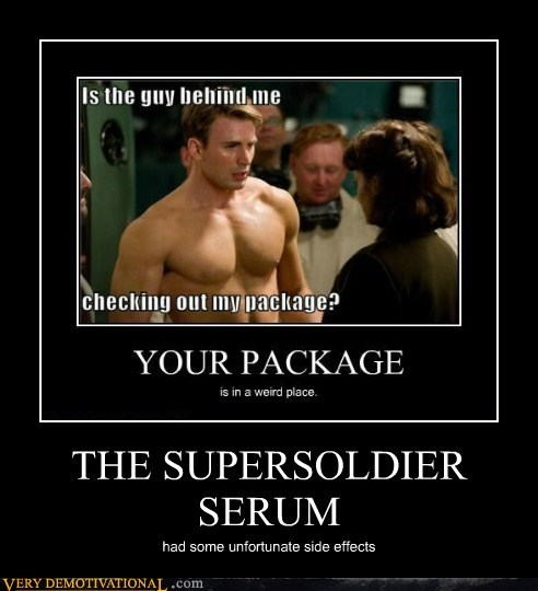 captain america,hilarious,side effects,super soldier serum