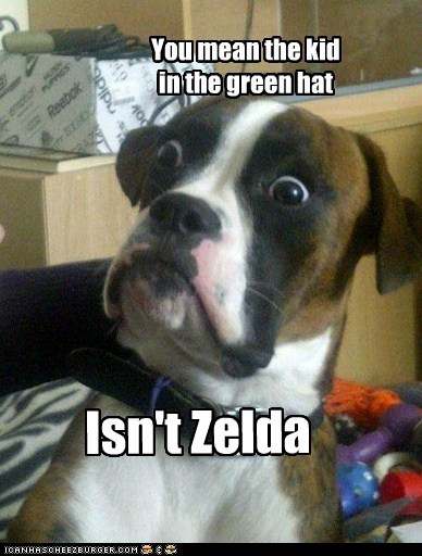You mean the kid in the green hat Isn't Zelda