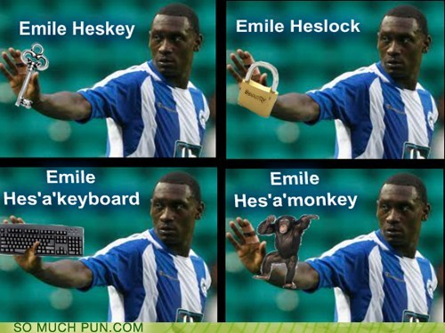 emile heskey key keyboard lock monkey suffix surname