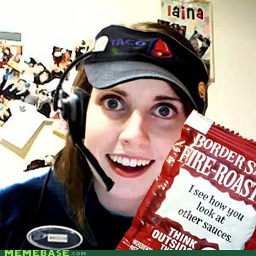 Memes overly attached girlfrien overly attached girlfriend taco bell - 6410705152