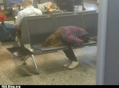 airport,face in chair,sleeping