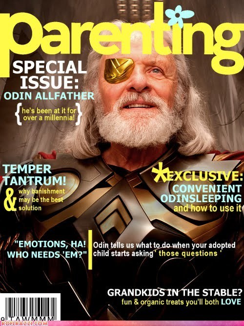 actor Anthony HOpkins celeb cover funny magazine Movie odin shoop Thor - 6410752000