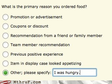 i was hungry,questionnaire,survey