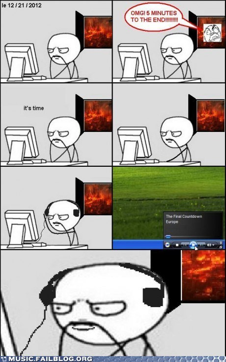 apocalypse comic final countdown rage comic the final countdown