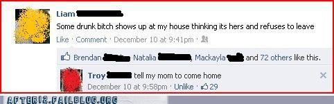 drunk mom,facebook,failbook