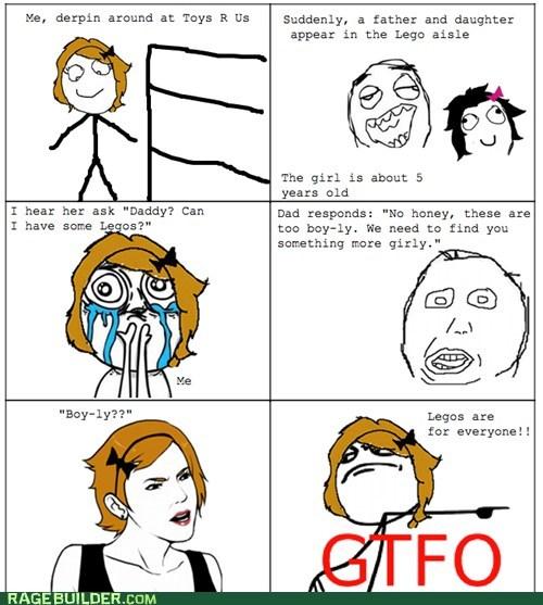 gtfo,lego,parenting,Rage Comics
