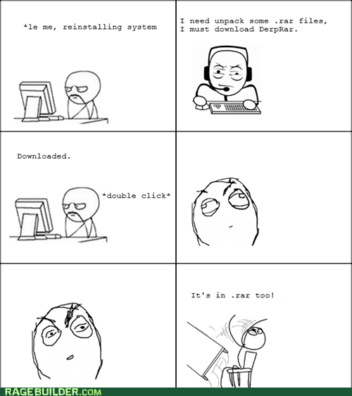 rar computers downloading Rage Comics WINRAR - 6411022592