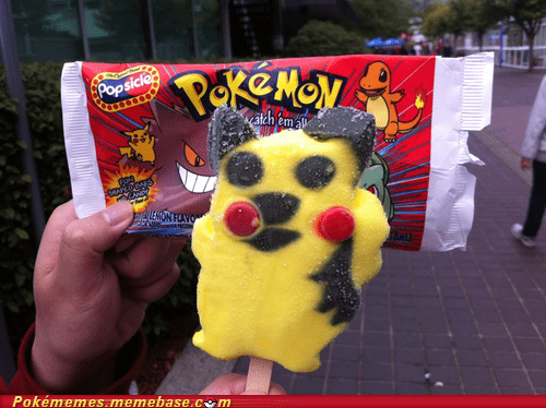ice cream IRL pikachu popsicle - 6411076608