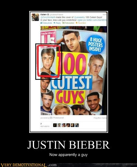 JUSTIN BIEBER Now apparently a guy