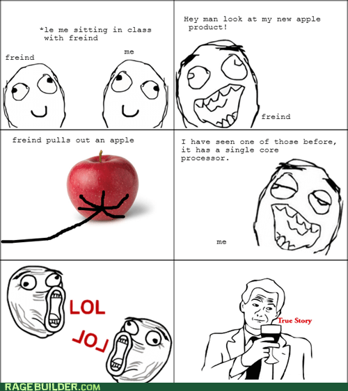 apple fruit Rage Comics true story - 6411116544