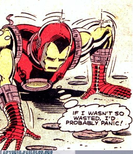 iron man The Avengers tony stark wasted