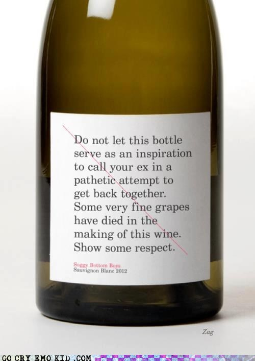 alcohol disclaimer ex respect weird kid wine
