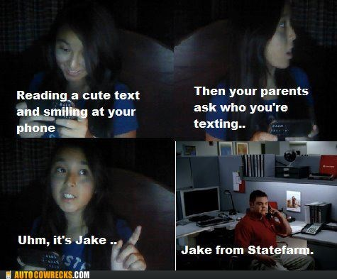 commercials,cute text,Jake from Statefarm,who is it